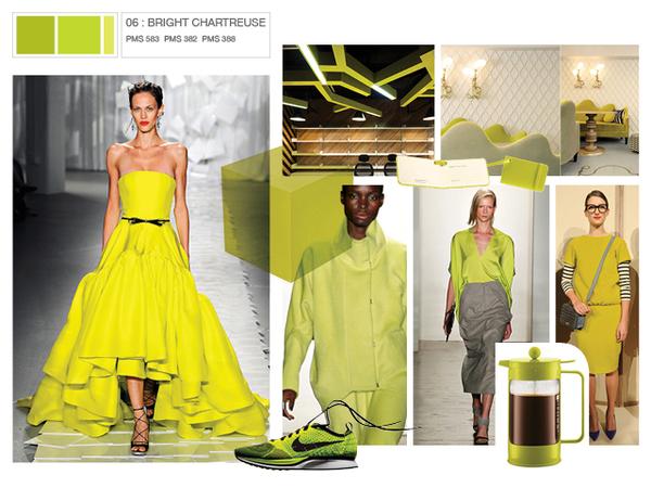 The New Pantone Fashion Colours For Autumn 2012 Sweet Lime Interior Design